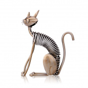 Tooarts Metal Sculpture Figurine Statue Ornament Crafts Home Decorations Living Room Decorations Office Decorations