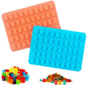 50 Cavity Mini Gummy Bear Sweet Moulds for Hard Candy Chocolate Muffin Mould Making - Silicone Soap and Ice Cube Trays & Jelly Moulds