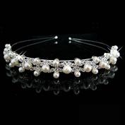 Bridal Tiara Rhinestone and Pearl Headband