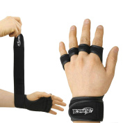 Crossfit Gloves - Weight Lifting Gloves - Fitness Gym Weightlifting gloves- Neoprene Wrist Support Wraps Straps Gel Gloves