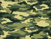 A4 Army Green Camouflage Print Icing Sheet Cake Topper Edible Decoration