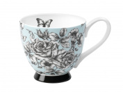 Portobello CM03396 Footed English Country Garden Fine Bone China Mug
