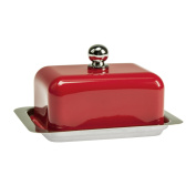 Contento 672175 Butter Dish Stainless Steel Red