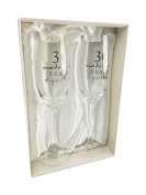 30th Pearl Wedding Anniversary gift Pair of Glasses