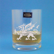Bohemia Crystal Whisky Tumbler With Welsh Dragon Design