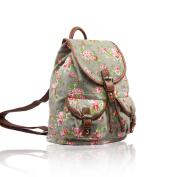 Sale Vintage Floral Designer Style Canvas Backpack/Rucksack Back To School
