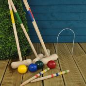 4 Player Complete Wooden Croquet Set by Parkland