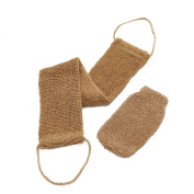 LVG Beauty. All Natural Hemp Back and Body Scrubber. Exfoliates, Beautifies, Environmentally Friendly. Includes Hand Mitt