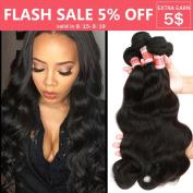 YIZE Hair 7A Brazilian Body Wave Hair Weave 4 Bundles 100% Unprocessed Virgin Human Hair Extensions Black Colour 22 24 26 70cm