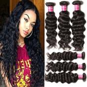 Beauty Forever Hair Brazilian Natural Wave Virgin Hair Weave 3 Bundles 100% Unprocessed Human Hair Extensions Natural Colour 95-100g/pc