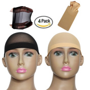 New8Beauty Wig Caps 4-Pack