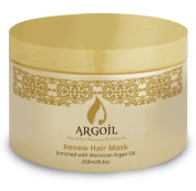 ARGOIL Renew Hair Mask Enriched with Moroccan Aran Oil 250ml - Unique Formula includes Argan Oil, Shea Butter, Oils & Fatty Acids - Deeply Nurtures the Hair-Root to End