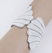 Lvxuan Angel white Sector Wing Glitter Surface Open Flex women Bangles
