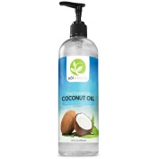 Sol Beauty Fractionated Coconut Oil 470ml - Cold Pressed Pure Natural Extra Virgin Oil - Premium Therapeutic Essential Carrier Pulling Oil For Hair, Skin, Aromatherapy, Massage, Relaxation, Moisturising
