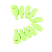 Yueton Pack of 10 Reusable Toenail Nail Art Soak Off Cap Clip UV Gel Polish Remover Beauty Tool