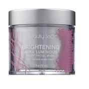 Beauty 360 Brightening Aura Luminosity Sleep Facial Mask, 50ml, Paraben, sulphate & phthalate free.