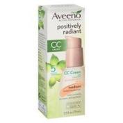 Aveeno Active Naturals Positively Radiant CC Cream Tinted Moisturiser, Medium - 2pc