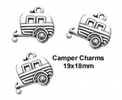 PlanetZia 5pcs Camping Travel Trailer Charms For Jewellery Making TVT-EX-SJC