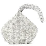 SHANGTOP Women's Evening Clutch Handbag Triangle Full Rhinestones Purse for Party Prom Wedding