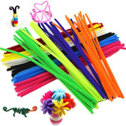 "KINGLAKE® 480 Pcs 24 Colours Coloured Pipe Cleaners Chenille Stems 6mmx12"" for Creative Handmade Arts and Crafts"