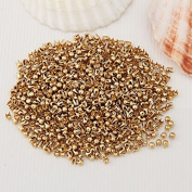 Vikeva 1000 Gold Tone Round Dome Rivet Spike Studs Spots DIY Rock Punk 2.5mm