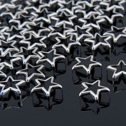 Vikeva 50 Silver Metal Star Rivet Spike Studs Spots DIY Rock Punk 15mm