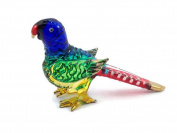 MINIATURE PARROT HAND BLOWN CLEAR GLASS ART PARROT FIGURINE ANIMALS GLASS BLOWN FBA