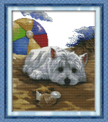 CaptainCrafts Hot New Releases Cross Stitch Kits Patterns Embroidery Kit - Dog Missing