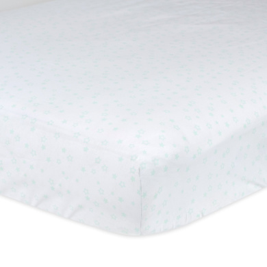 Gerber 100% Cotton Fitted Crib Sheet, Stars