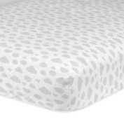 Gerber 100% Cotton Fitted Crib Sheet, Clouds
