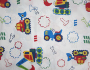 Under Construction (Flat Top Sheet Only) Size TODDLER Boys Girls Kids Bedding
