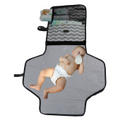 NimNik Baby Nappy Changing Station | Fashionable Portable Table Pad Change Mat for Travel & Home | Perfect Shower Gift or Present for Mom of Newborn Boys Girls