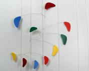 Baby Mobile / Rainbow Mobile / Kinetic Sculpture / Hanging Mobile / Handmade USA / Calder Inspired / Rang Style