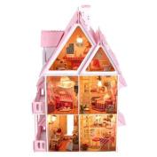 LightInTheBox ® Teenage Dream, Gifts for Girls,Large Dream Villa DIY Wood Dollhouse Including All Furniture