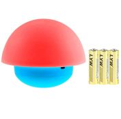 Firlar Tumbler Mushroom Night Light Include 3 Battery, 7 Colour Tap Touch Sensor Portable Dimmable LED Nightlights Best Gift for Baby Bedroom Nursery