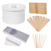 JMT Beauty Cirepil Empty Wax Can Kit (410ml), includes Assorted Wooden Stick Applicators and Assorted Non-woven Wax Strips