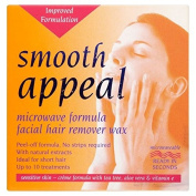 Smooth Appeal Microwave Formula Facial Hair Remover Wax 40g