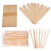 JMT Beauty Assorted Wax Applicators, 100 Extra Small and 100 Large Spatulas