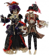 Mark Roberts Halloween Skeletons Mr and Mrs Vogue - Large 80cm
