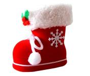 Hestio Christmas Decorative Flocking Boots Santa Big Socks Candy Holders (S