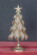Metal Ribbon Iridescent Glitter Christmas Tree Tabletop Decoration