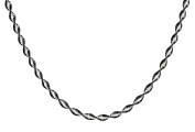 Sterling SilverBlack Rhodium Plated Plated Two-Tone Twisted Magic Necklace