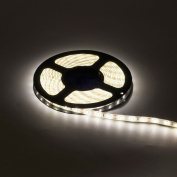 BTF-LIGHTING 5m Natural white SMD5630 Led Strip Light 300LEDs DC12V IP65 Waterproof 25Lm/LED, 2 times brightness than SMD5050 LED Ribbon Light, 5630 LED Tape