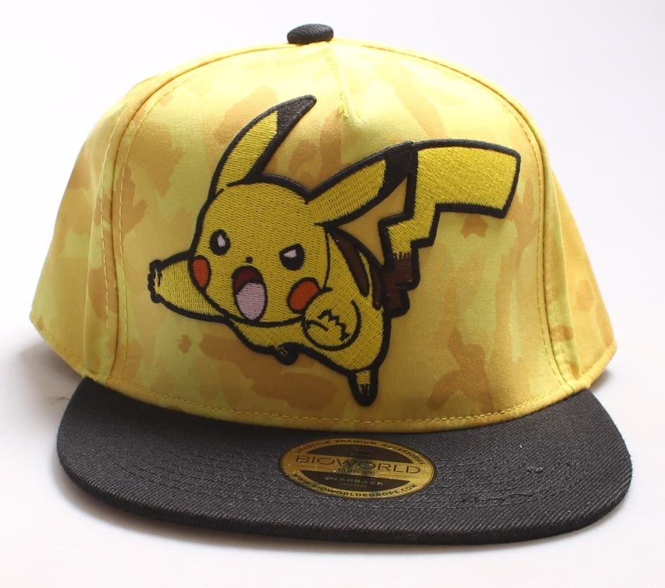 Pokemon Unisex Pikachu Camouflage Snapback Baseball Cap c83ab03e1c4a