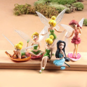 1 Set Cake Toppers Cute Tinker Bell Fairies Princess Action Figures PVC Doll Toy