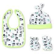 Oh Joy! Newborn Bib, Hat & Slipper Set