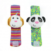 Wrisky Multi shape Soft Toy Animal Baby Infant Kids Hand Wrist Bells Foot Sock Rattles