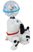 Dancing Dog Puppy Toy- Battery Operated With 3D Clear Ball Lights, and Sound