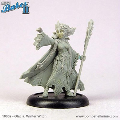 Bombshell 32mm Scale Miniatures: Glacia The Winter Witch