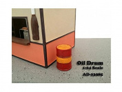 American Diorama 23985 Oil Drum Accessory Set of 2 for 1-24 Scale Models